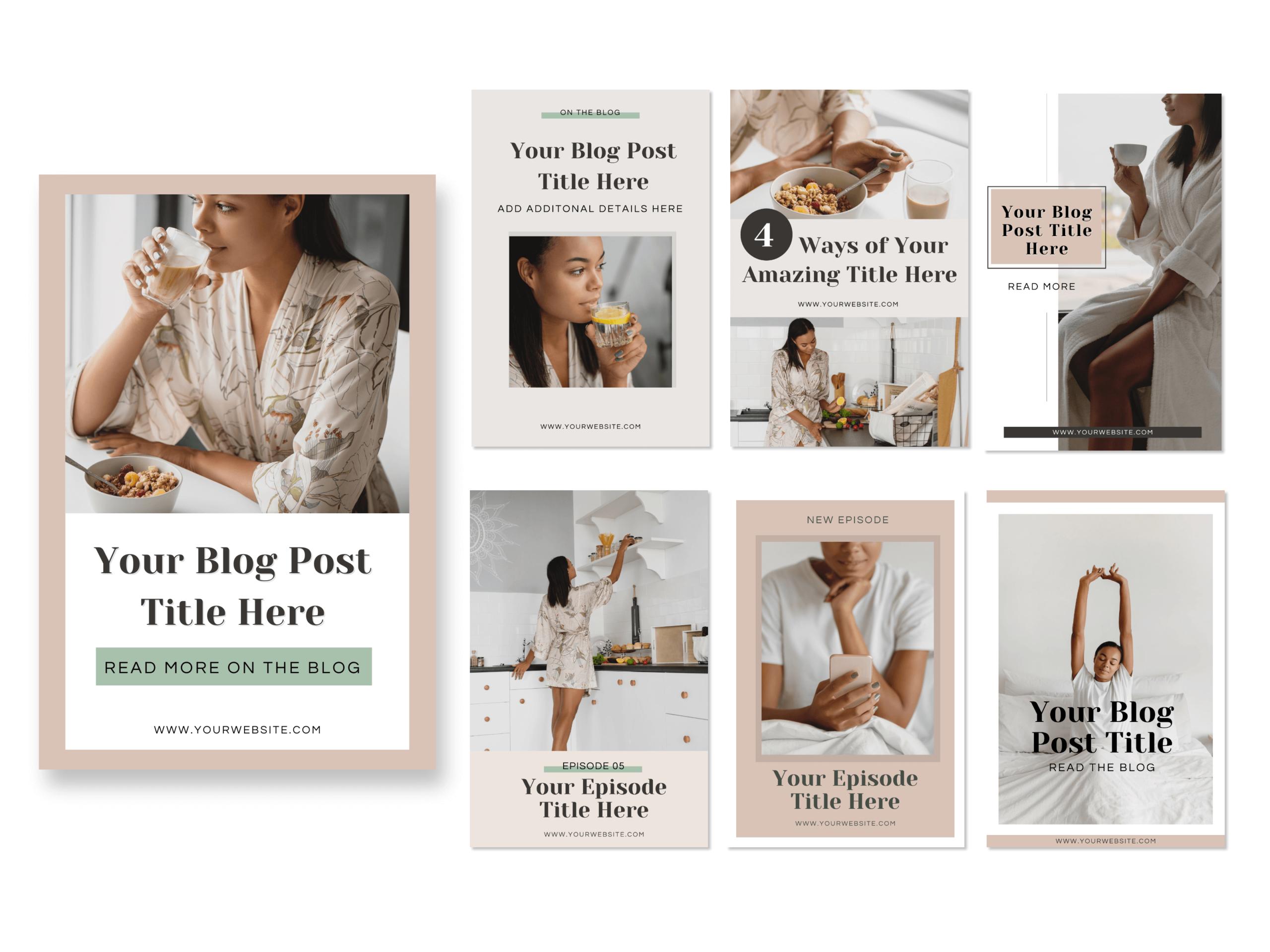 Pinterest Graphics Template