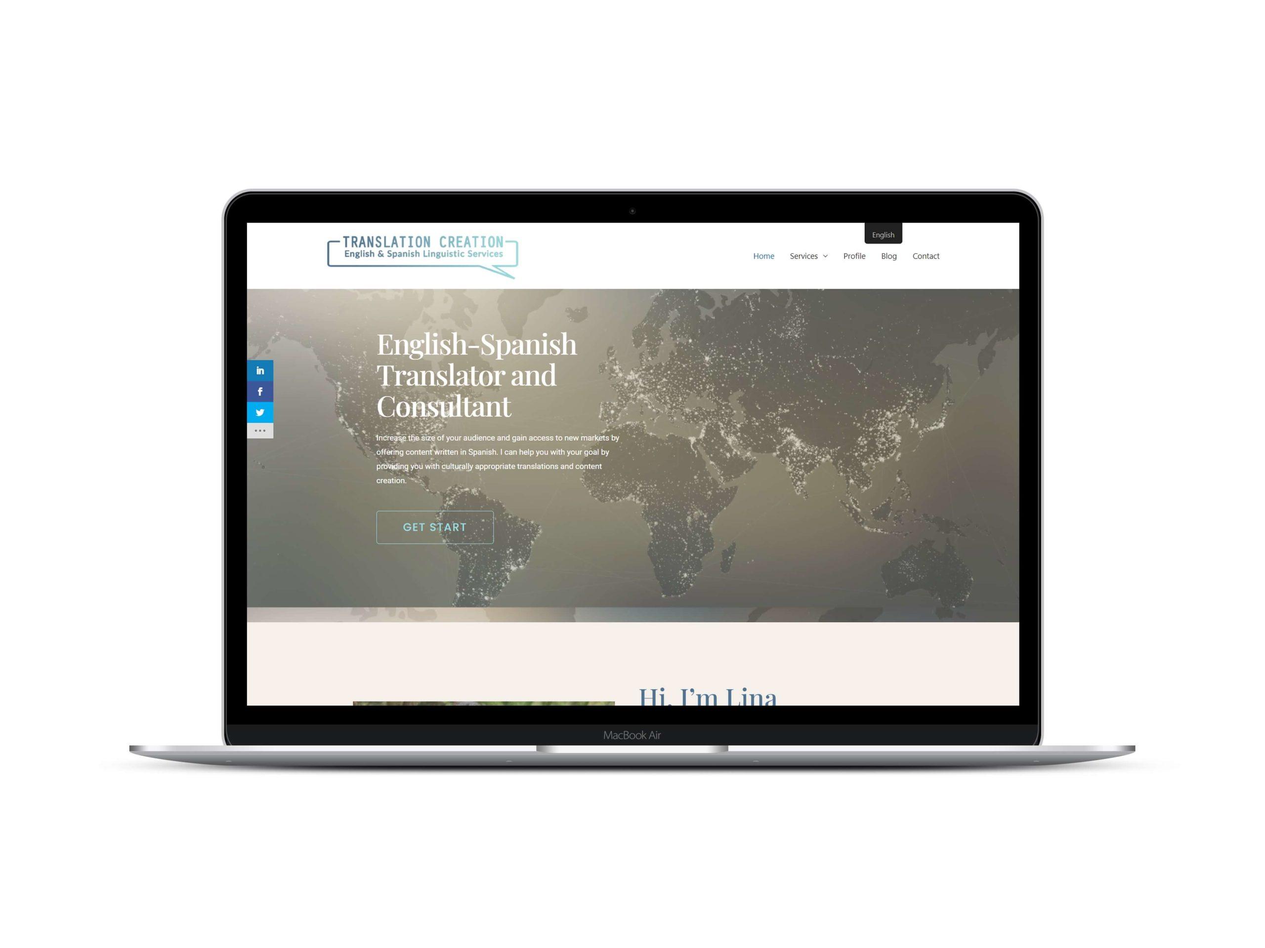 Bilingual Website Design by Lovely Abbott