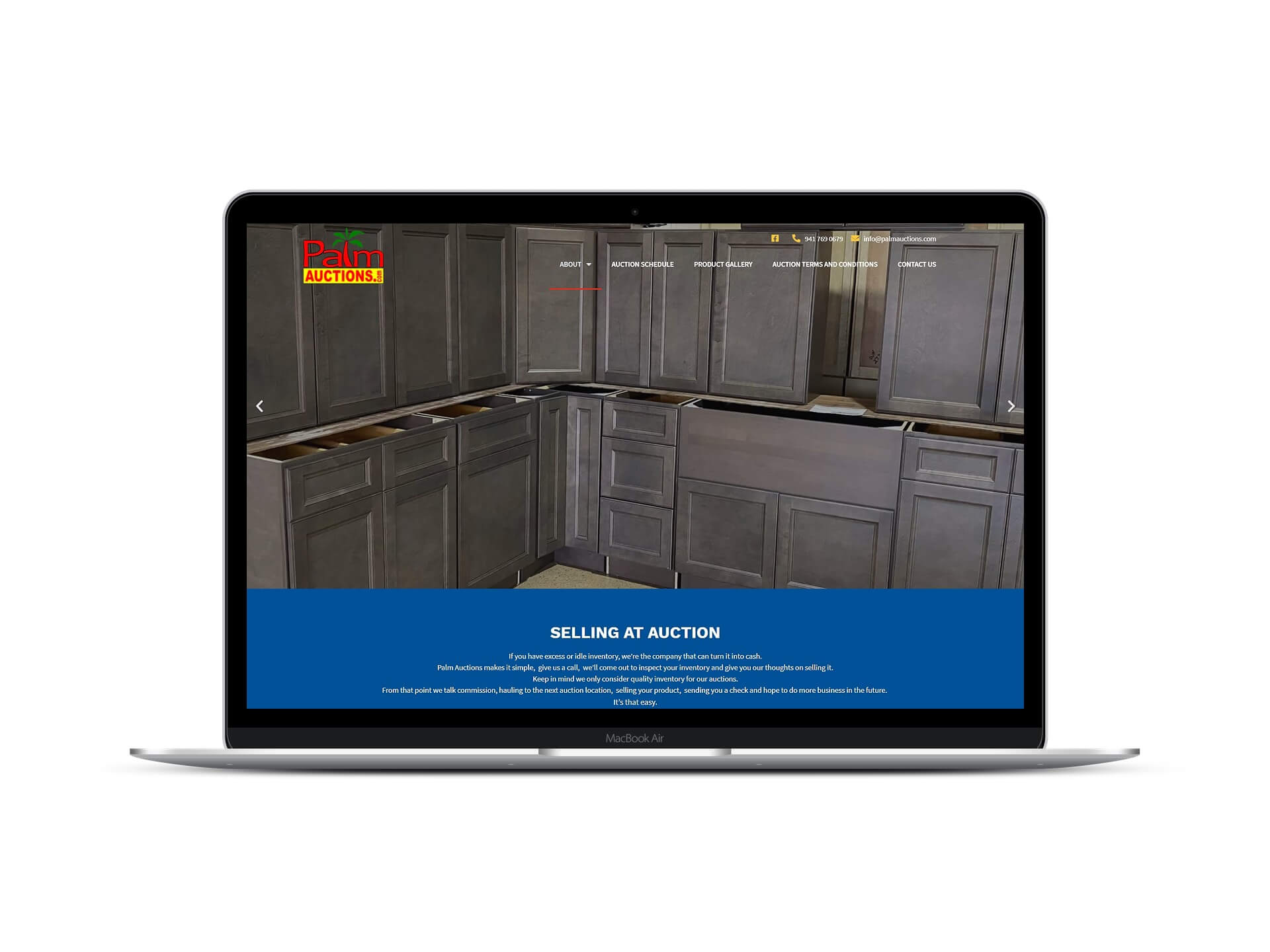 Local Auction Business Website by Lovely Abbott