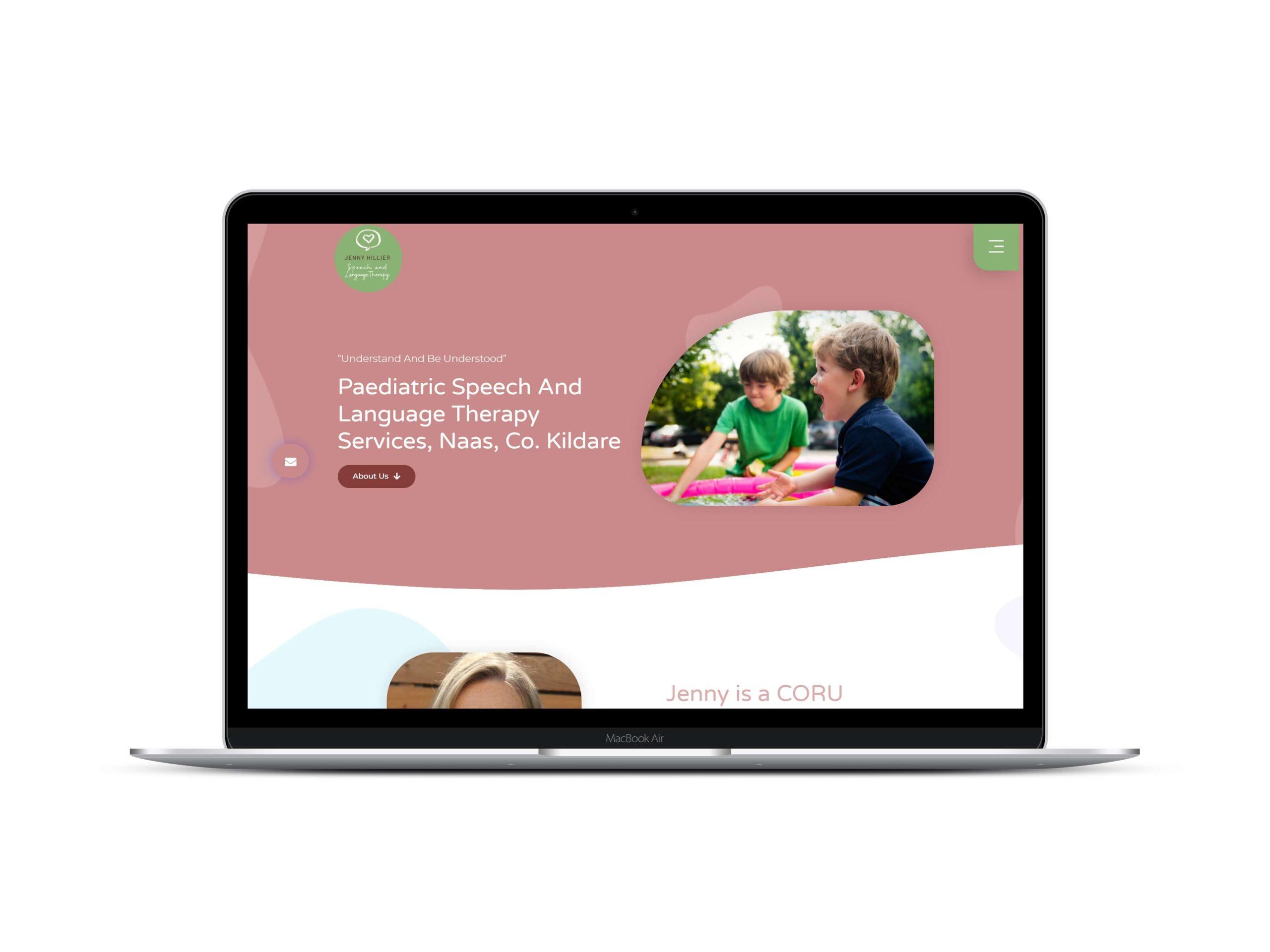 Speech and Language Therapist Website Design by Lovely Abbott