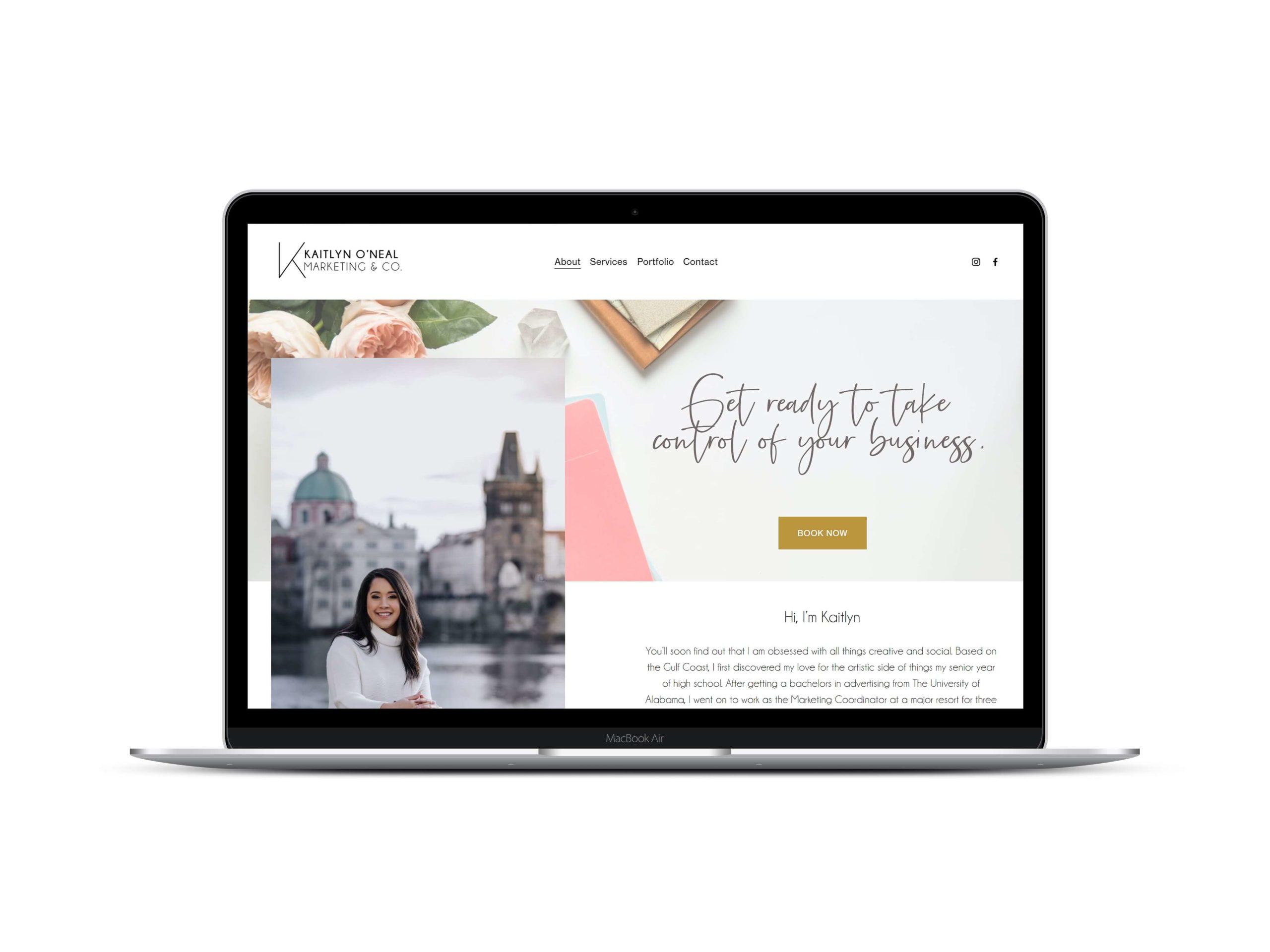 Social Media and Marketing Website ( Squarespace)