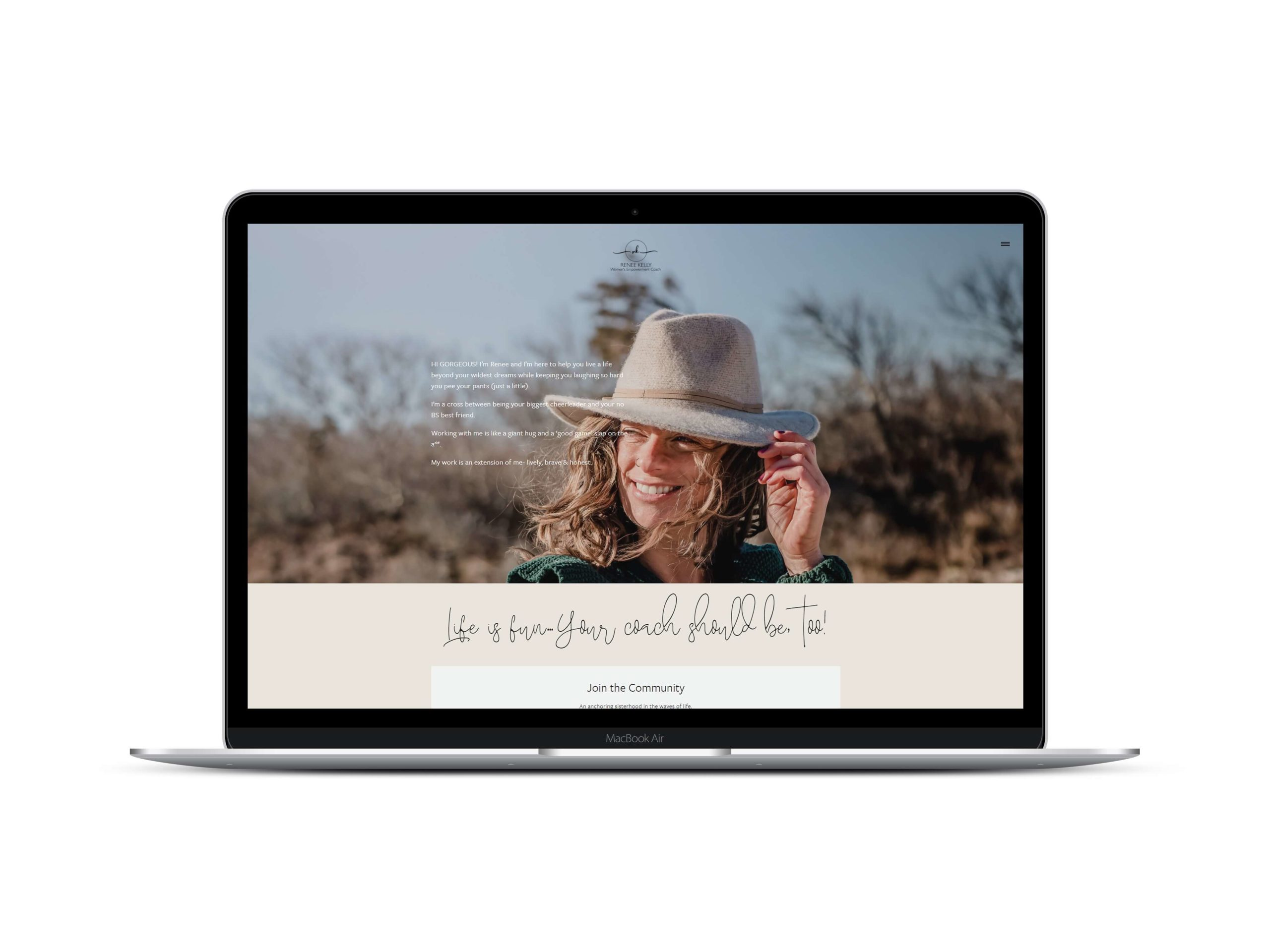 Life Coaching Website in Squarespace by Lovely Abbott
