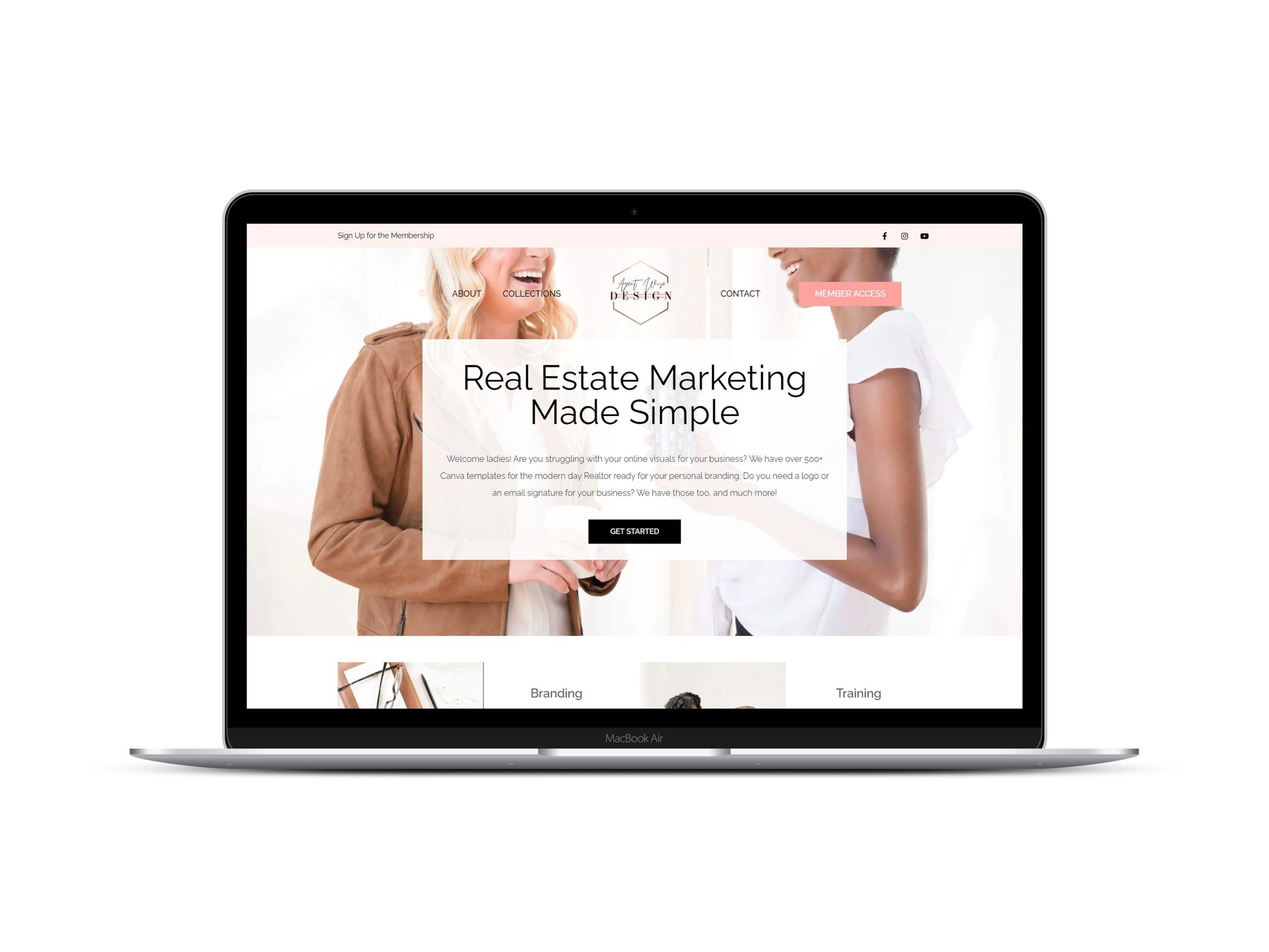Real Estate Membership Website by Lovely Abbott Web Branding & Co