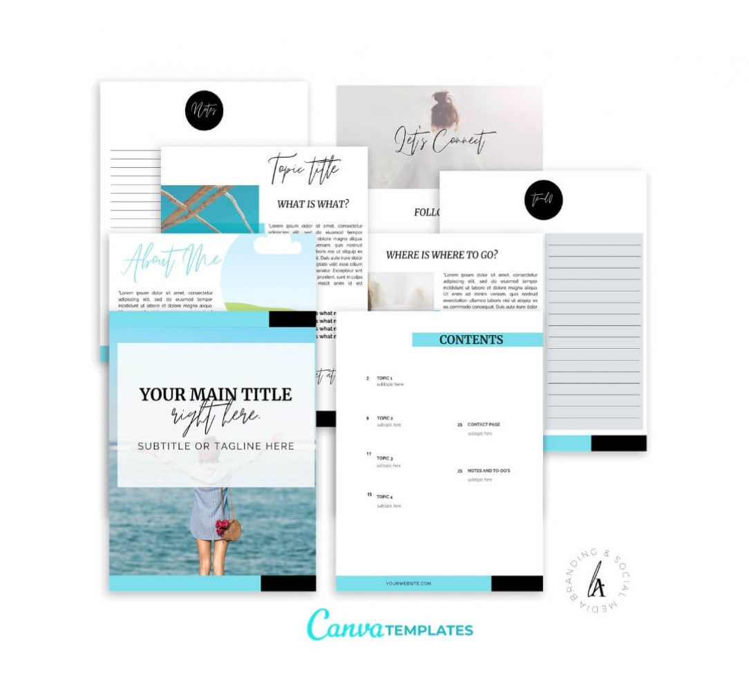 Ebook+Worksheet Canva Template