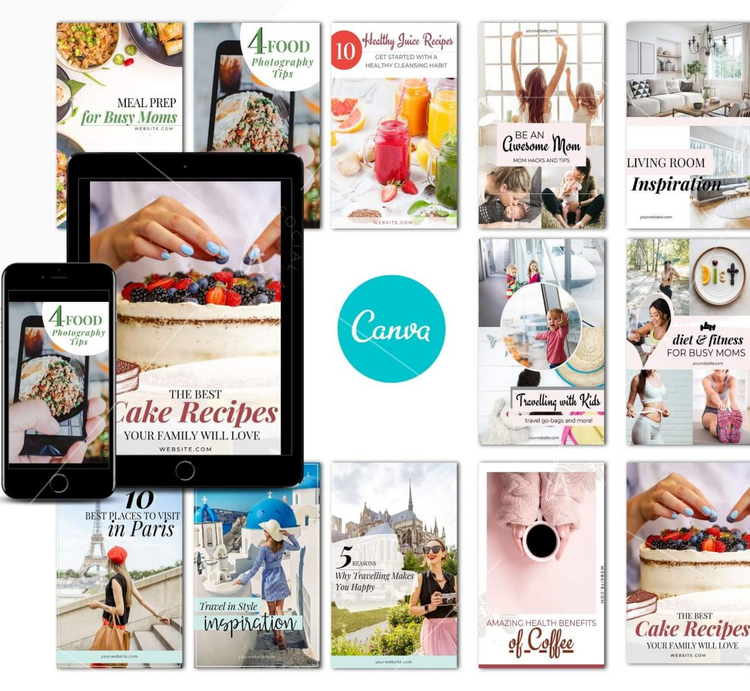 Pinterest Canva Template Pack