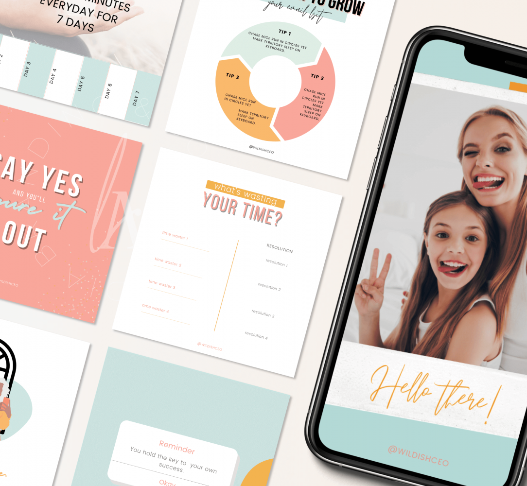 IG Feed Graphics Template